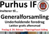 Purhus IF Generalforsamling 24 Feb. 2017